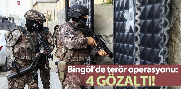 Bingöl'de terör operasyonu: 4 gözaltı