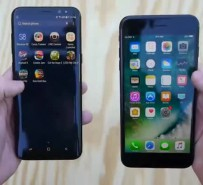 Galaxy S8 ve iPhone 7 Plus yanma testinde